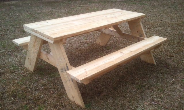 How To Build A Six Foot Picnic Table