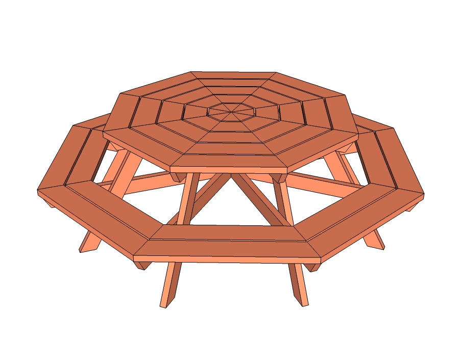 Design for Octagon Picnic Table