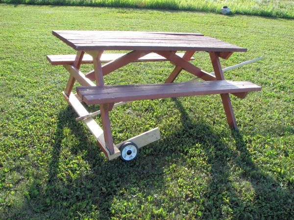 outdoor table and seating