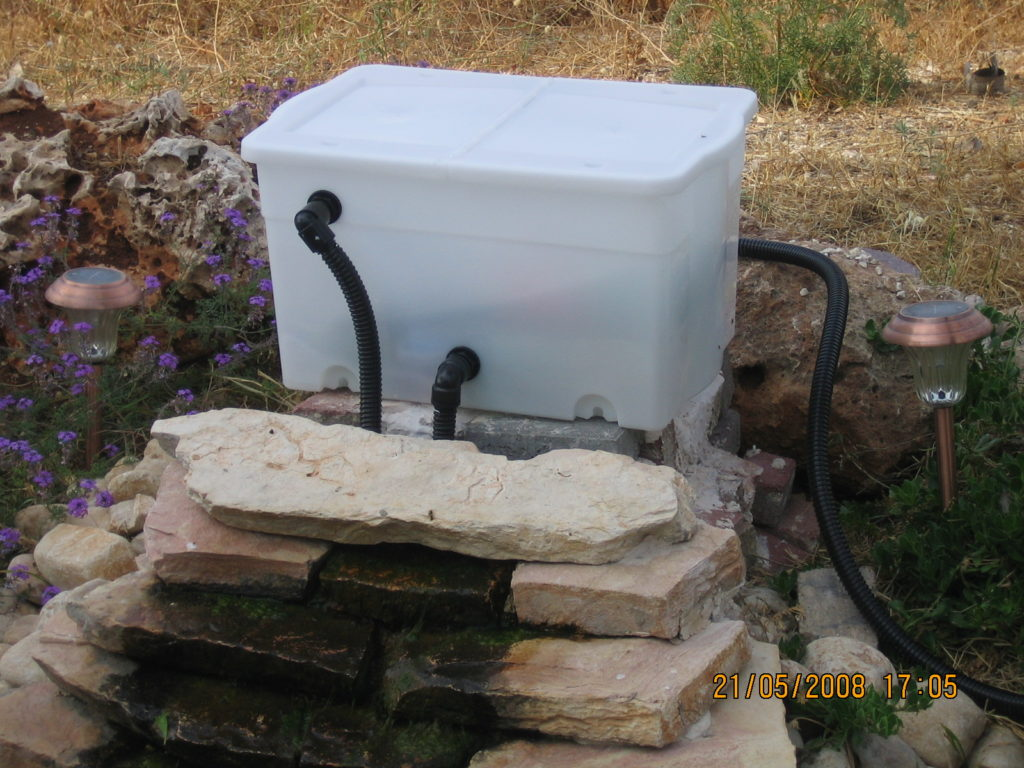 10 diy pond filter inexpensive and easy to build home for Garden fountain filters
