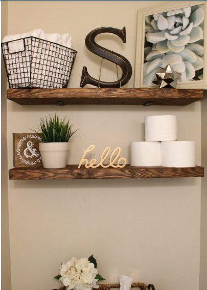 Faux Floating Shelves