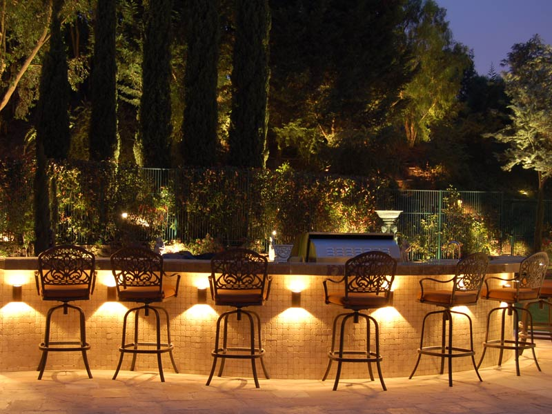 outdoor bar lighting backyard lighting ideas