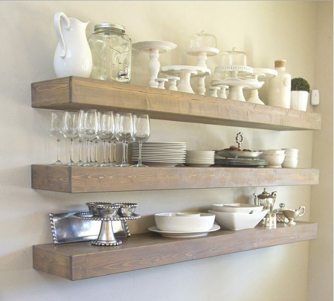 Simple Wood Shelves