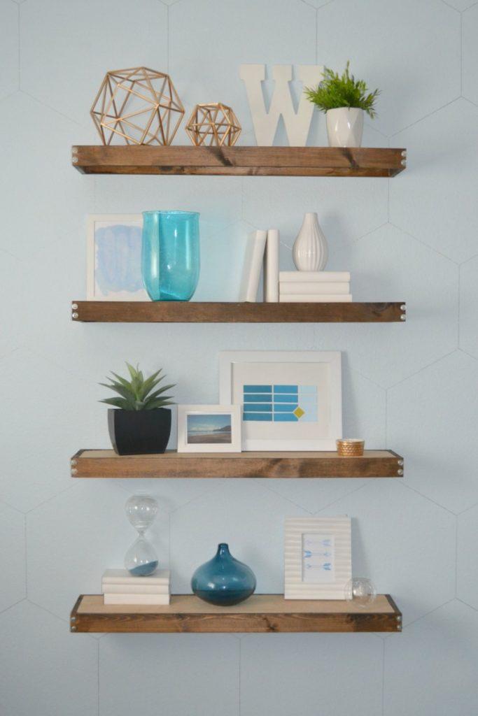 home organizing improvement create book shelves yourself