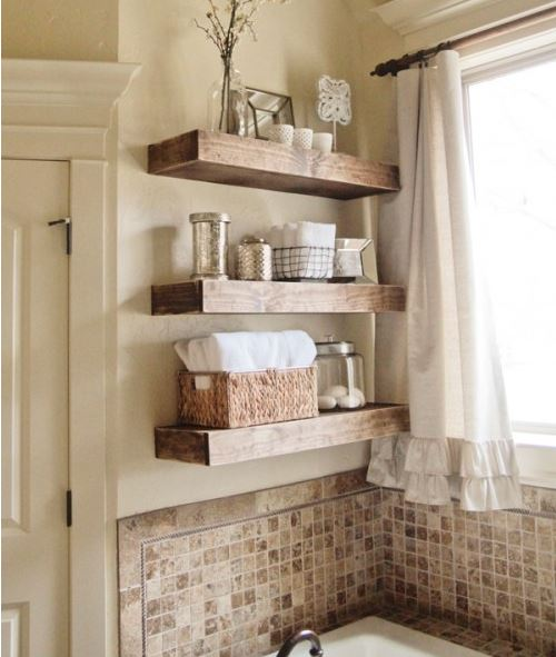 thick and sturdy floating shelves