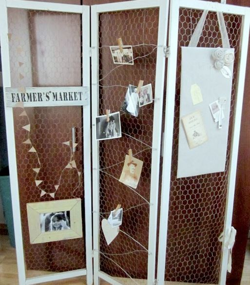 Chicken Wire Room Divider