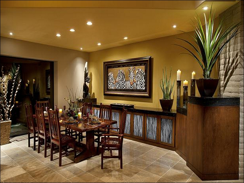 Superior Classic Wood Inspired Dining Room Design