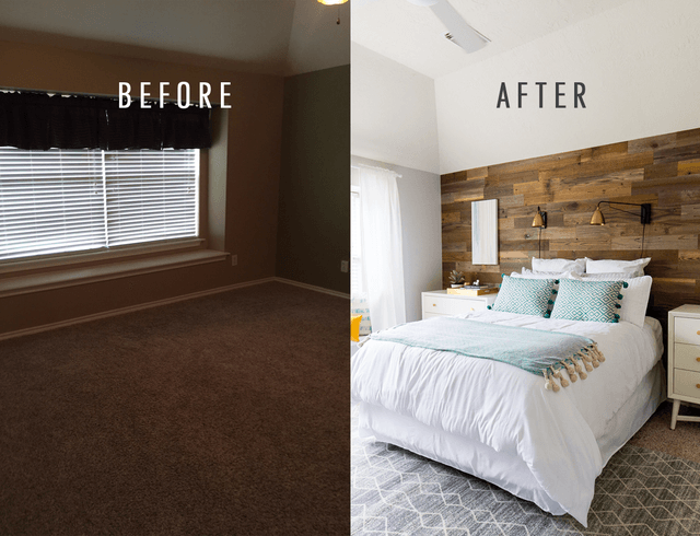 10 bedroom makeovers transform a boring room into a 15588 | update the bedroom lighting x83805