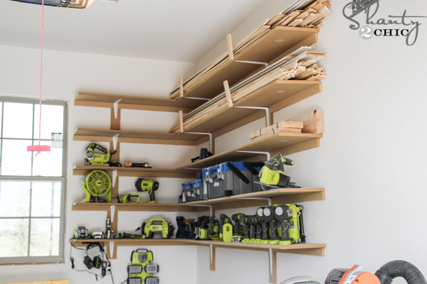 20 diy garage shelves to meet your storage needs home and idea to build super easy mdf shelves solutioingenieria Choice Image