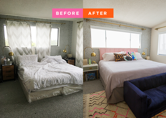 makeover idea to transform a boring bedroom. 10 Bedroom Makeovers Transform a Boring Room Into A Stylish