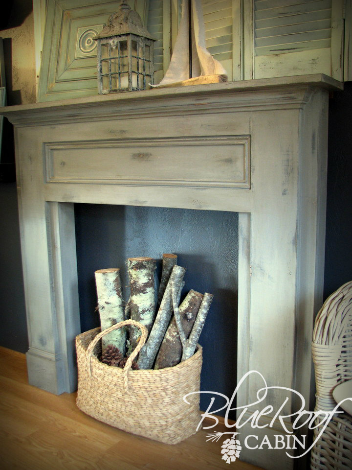 shabby-chic-faux-fireplace-mantel