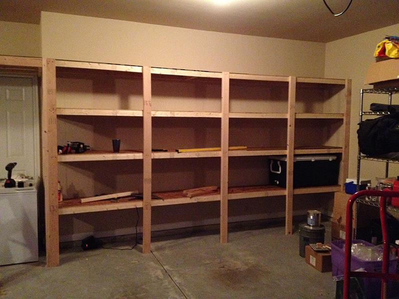 Image result for do it yourself garage shelves fun ideas