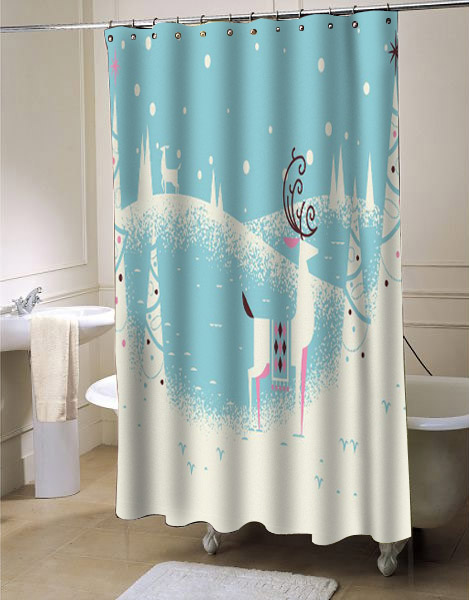 Seasonal Shower Curtains