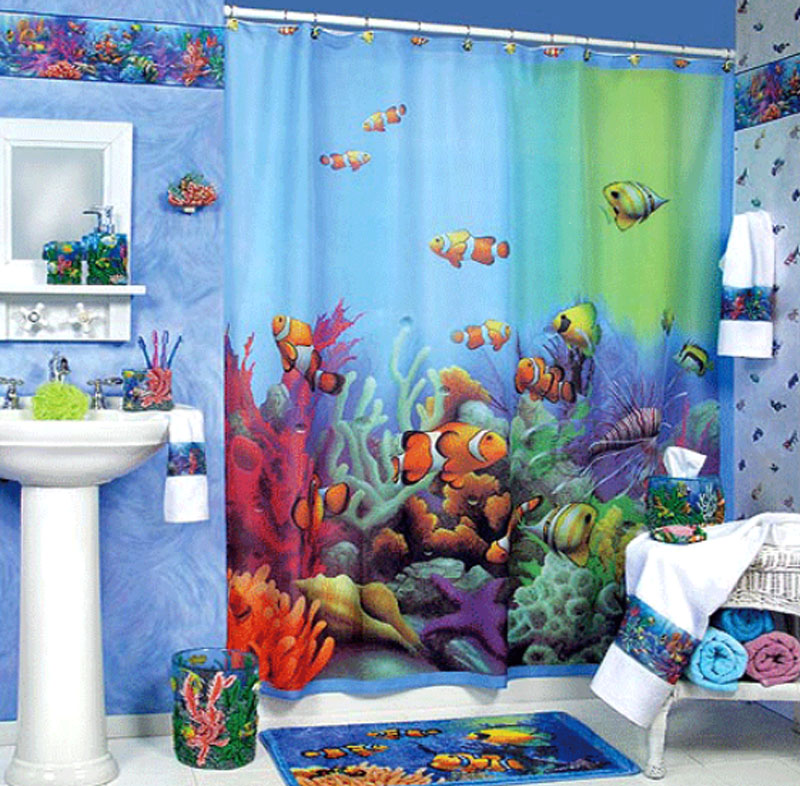 Elegant Bathroom Shower Curtain Ideas Home And Gardening Ideas - Kids bathroom shower curtains for small bathroom ideas