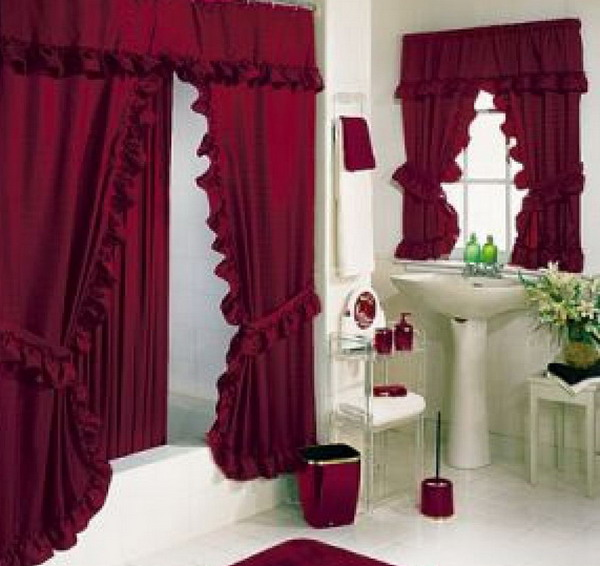 15 elegant bathroom shower curtain ideas home and gardening ideas - Shower Curtain Design Ideas