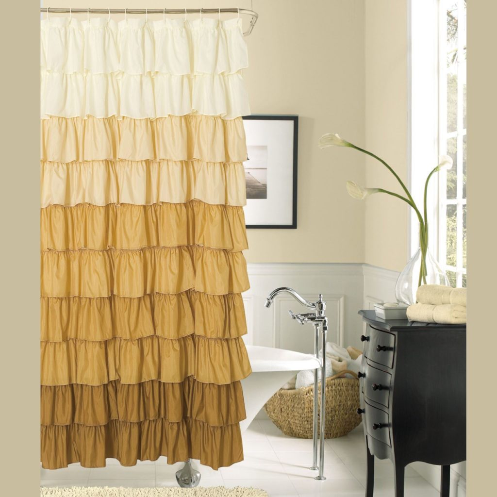 15 elegant bathroom shower curtain ideas home and for Weird shower curtains
