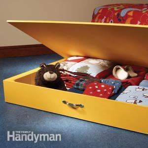 DIY under bed storage boxes