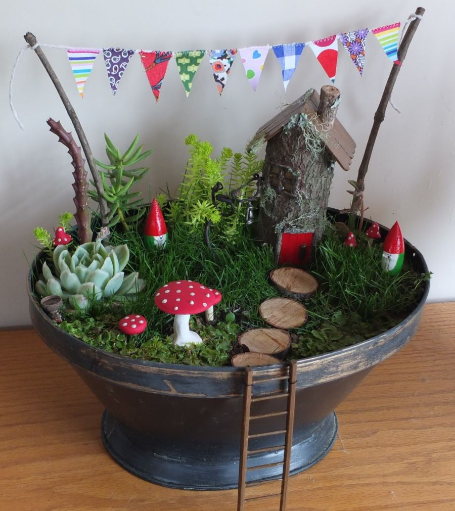 25 fun fairy garden ideas your kids will love to make one for How to make a fairy garden container
