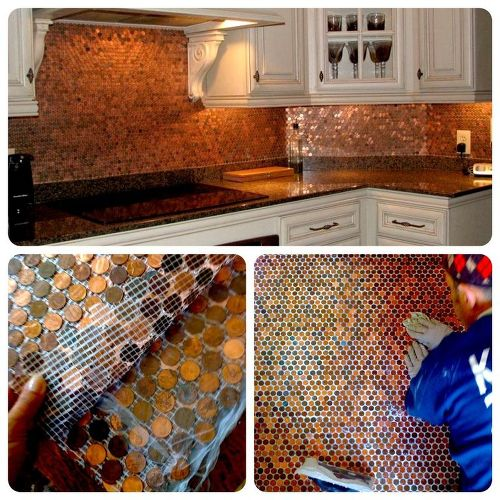 Copper Penny Backsplash