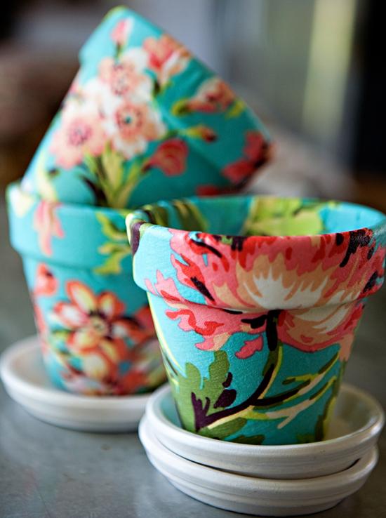 DIY pot decorating idea