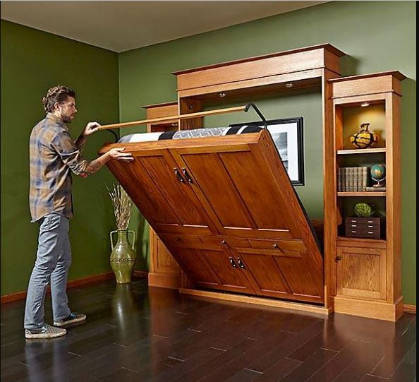 Build an attractive cabinet to house your bed