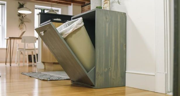 12 Tilt Out Trash Cabinets To Stash Unsightly Garbage Can Home And Gardening Ideas