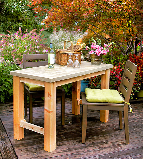 Concrete and Cedar Table