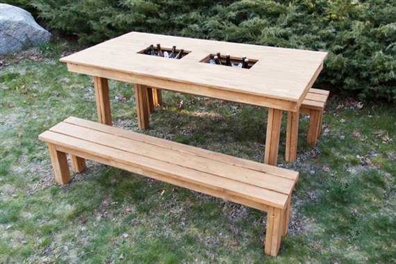 12 diy outdoor table you can build easily home and Picnic table with cooler plans