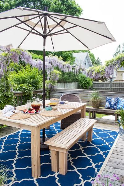 DIY outdoor table plans