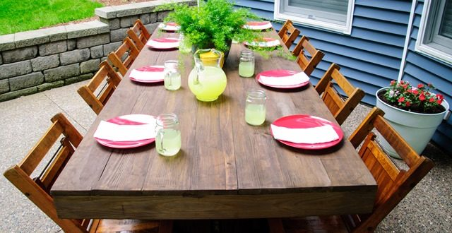 diy outdoor dining table ideas. diy outdoor dining table ideas