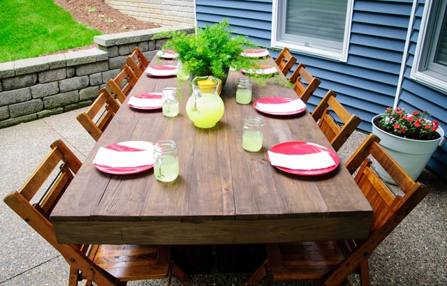 How To Build This Large Outdoor Patio Table