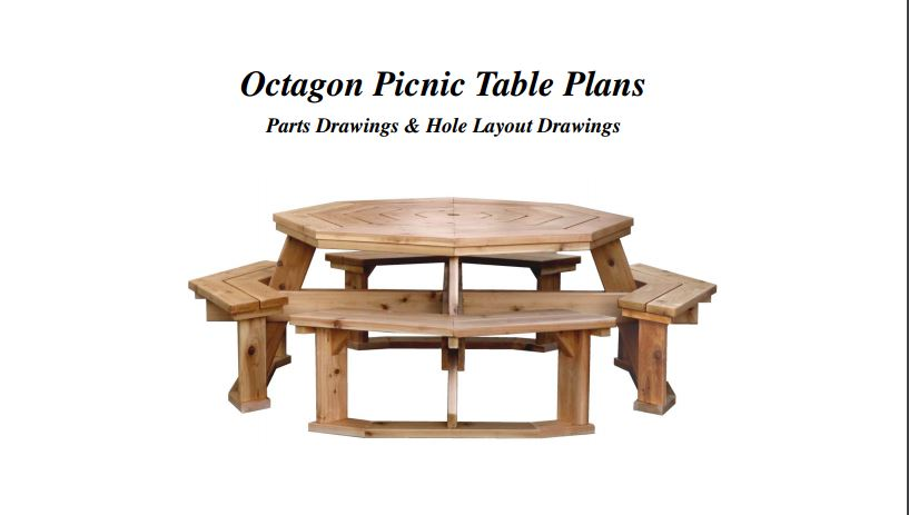 12 diy outdoor table you can build easily home and for Octagon picnic table blueprints
