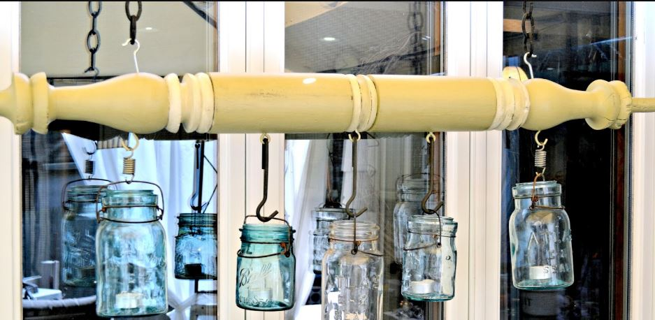 Wire Bail Mason Jar Lanterns