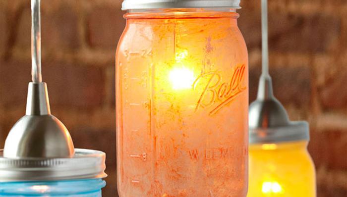 mason jar pendent light