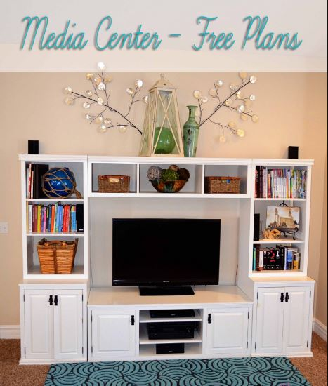 100 Awesome Home Theater And Media Room Ideas For 2017: 12 DIY Entertainment Center Projects And Ideas