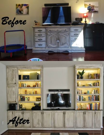 12 diy entertainment center projects and ideas home and gardening built in tv center solutioingenieria Choice Image