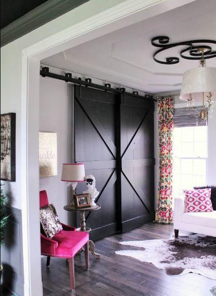 DIY black barn door