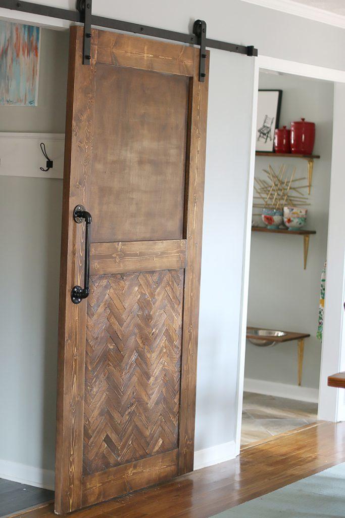 Herringbone Barn Door