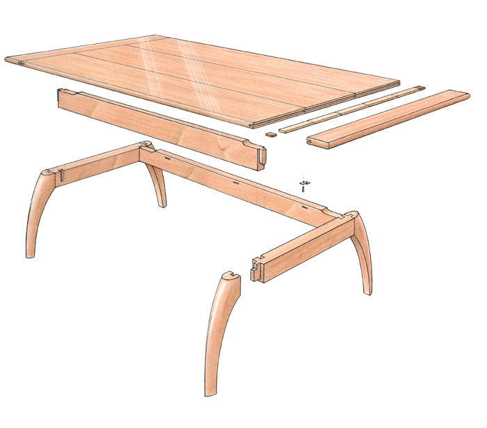 Arch Shaped Legs For Your DIY Coffee Table