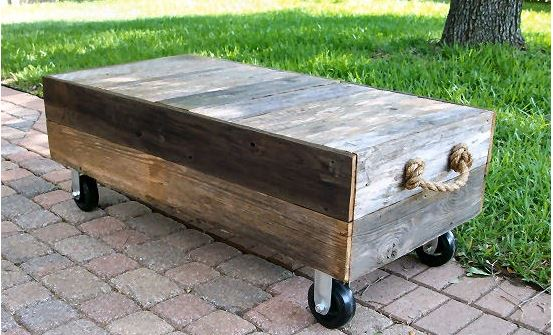 Factory Cart-Style DIY Coffee Table