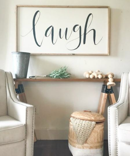 Sawhorse Sofa Table