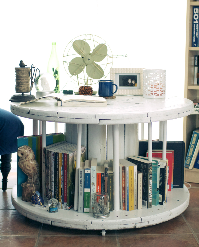 Spool Table – For Your Books And Coffee