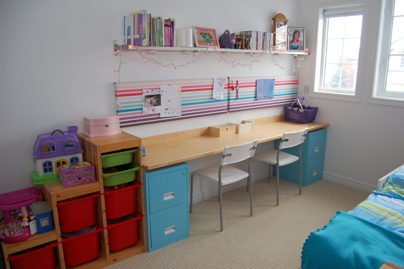 Spray Painted Kids Desk Cabinet
