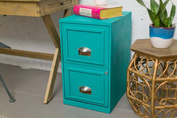 Stylish Cabinet With Semi-Spherical Draw Handles