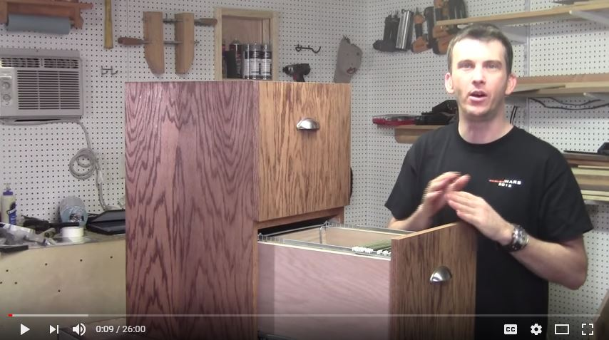 Two Drawer Filing Cabinet From Scratch