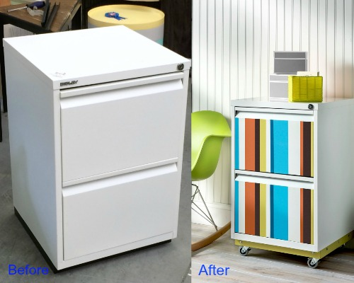 Turn A Colorless File Cabinet Into Zebra Cabinet & 15 File Cabinet Makeovers-DIY Ideas To Update An Old File Cabinet ...