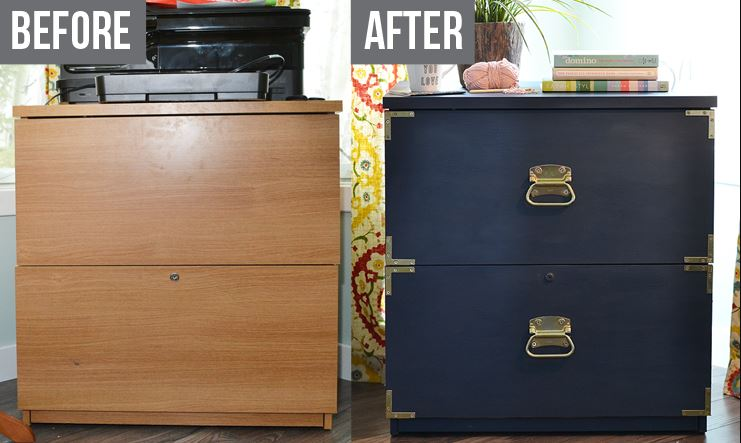 15 File Cabinet Makeovers-DIY Ideas To Update An Old File Cabinet ...