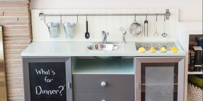 DIY kids play kitchen