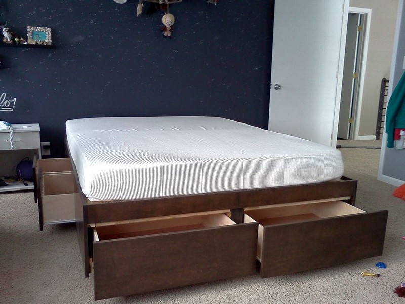 building this platform bed with drawers