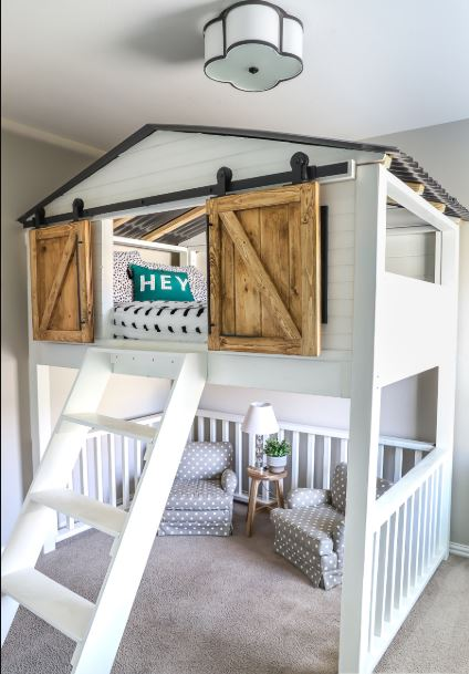 7 Nice Triple Bunk Beds Ideas For Your Children S Bedroom: 27 DIY Loft Beds For Kids To Have Fun Space Under Their
